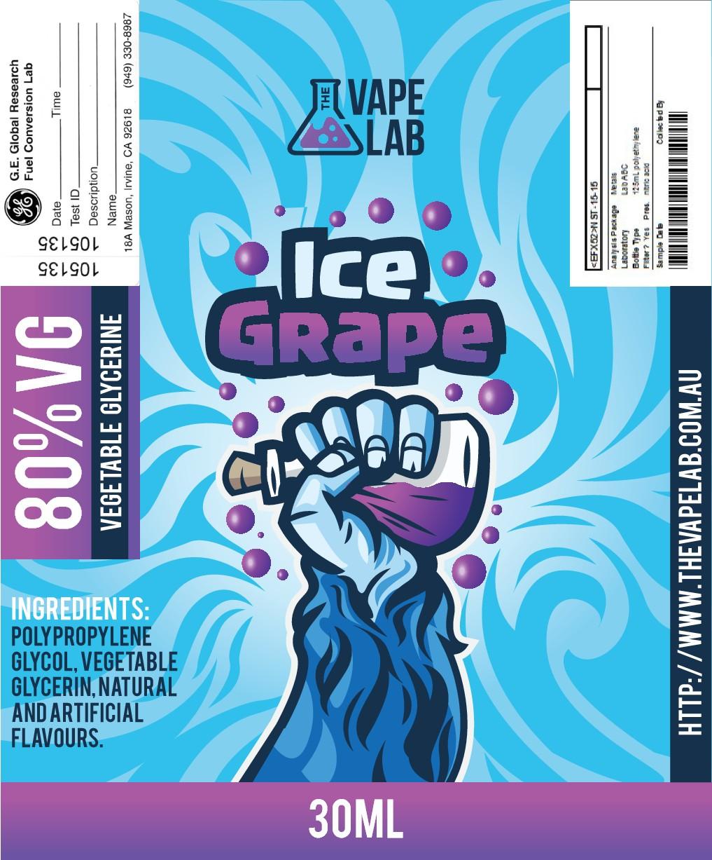 Create E-liquid label for Aussie Company
