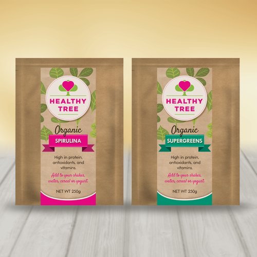 Organic Powder Label Design