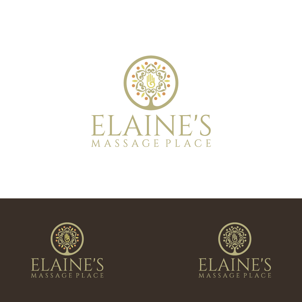 Create a relaxing logo for Elaine's Massage Place