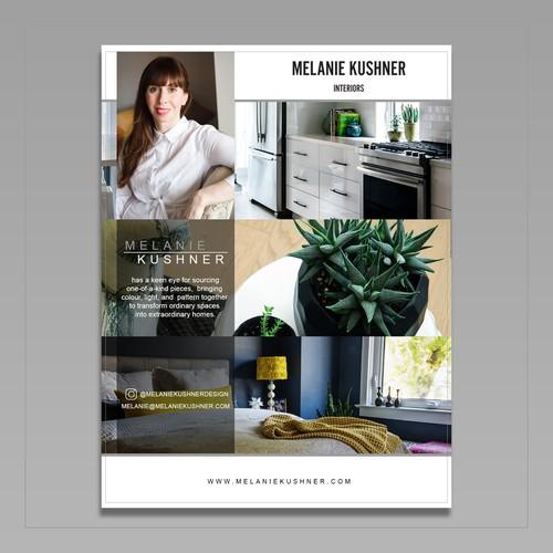Flyer design for Melanie Kushner