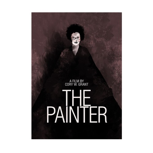 """Illustration and poster for """"The Painter"""", a film by C. W. Grant"""