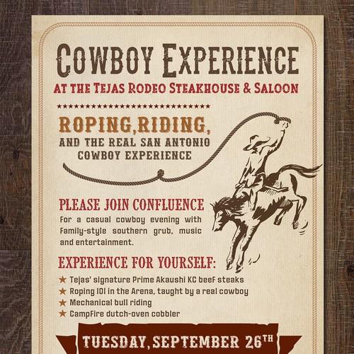 Cowboy Experience Invitation