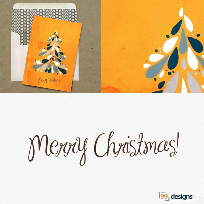 Design 99designs next set of Christmas Cards!