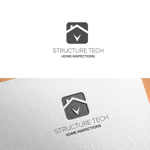 Simple logo design for home inspection company