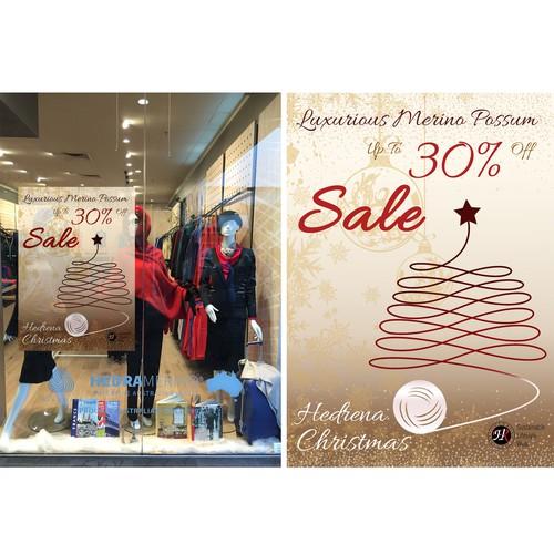 'festive season' retail poster for a luxurious merino wool retailer