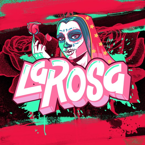 "Graffitti style illustration ""La Rosa"""