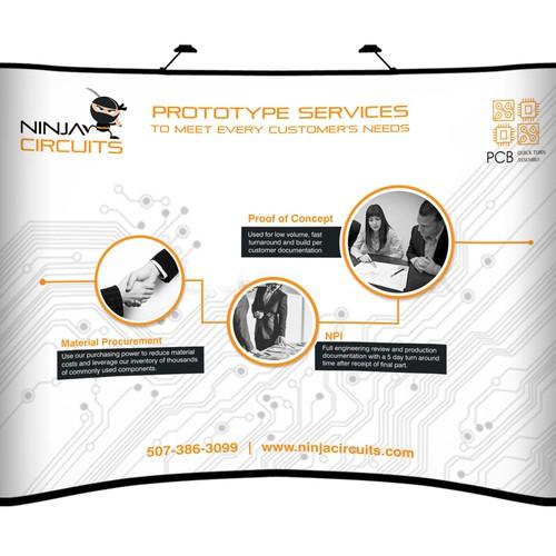 Ninja Circuits need a backdrop banner