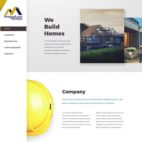 Home Builder Company Website