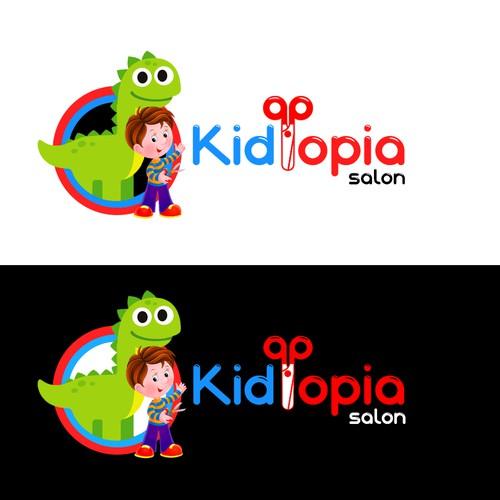 Conceito de Logo de Cabeleireiro infantil (Childrens hairdresser)