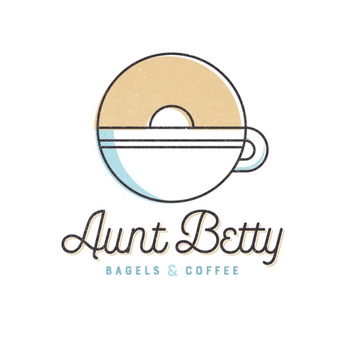 Design concept for Aunt Betty Bagels & Coffee