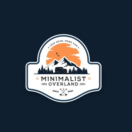 A hipster logo for an adventure overland company