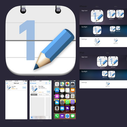 iOS Icon for counter notepad.