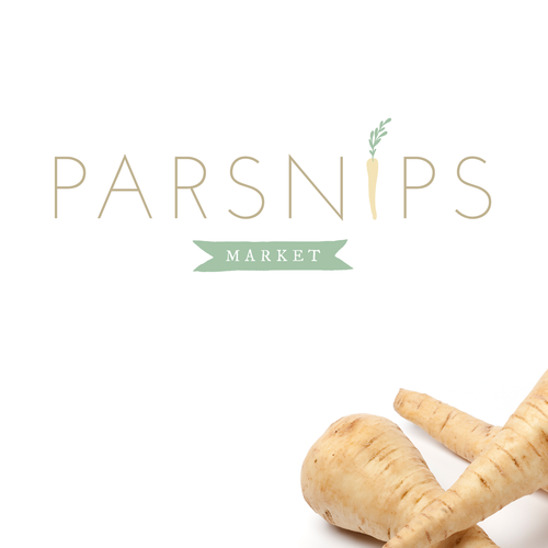 Logo design for Brooklyn food market, Parsnips