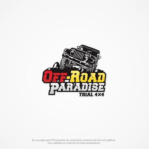 Logo para juego de conducción 4x4 off-road