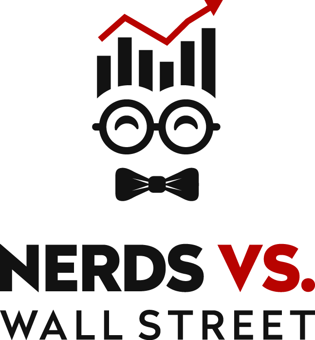 Nerds Vs Wall Street (investment Podcasts and Advice) please depict both nerds and wallstreet traders