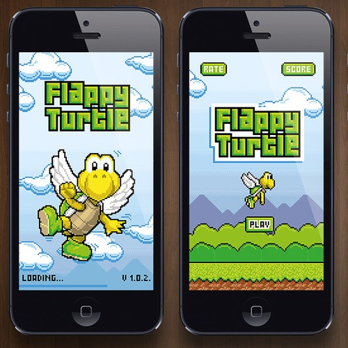 Retro and pixel style artwork for iOS game