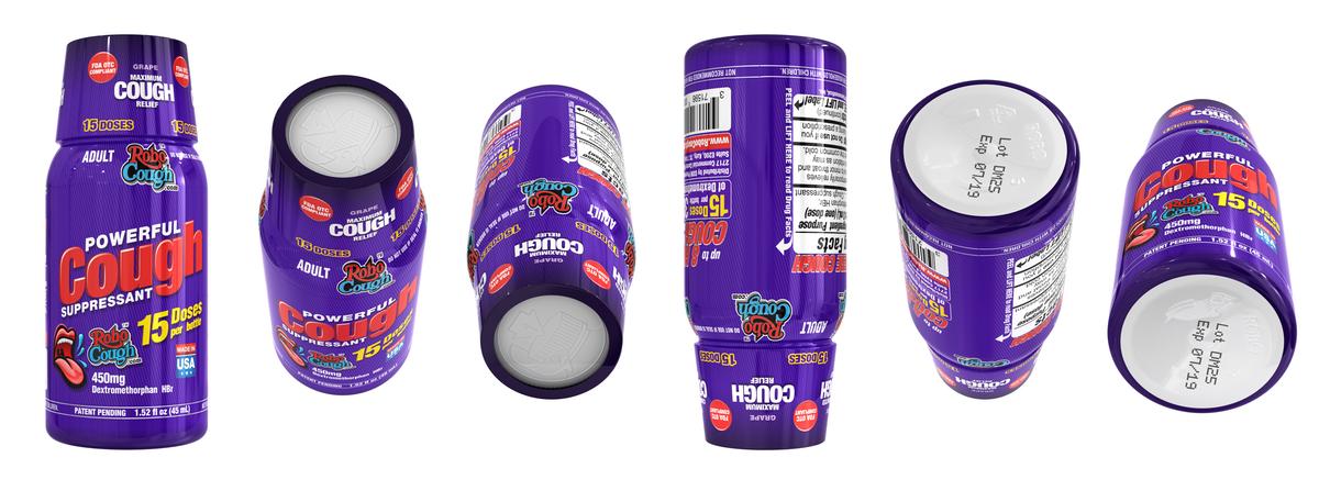 NEW 3-D RoboCough Grape flavor design