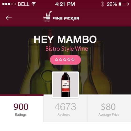 Wine app Profile design