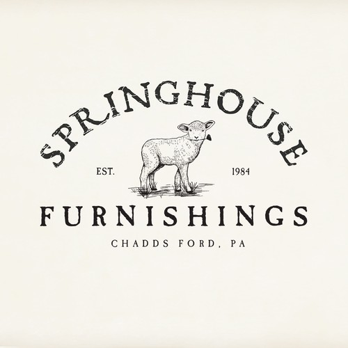 Clean, rustic, modern-looking logo for Farm Stand and Furnishing Store.