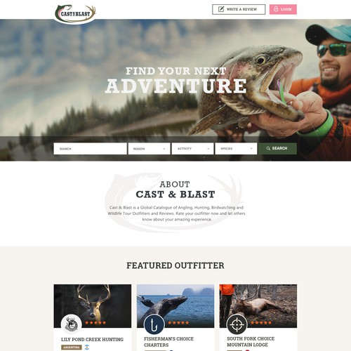 Hunting & Fishing Mockup
