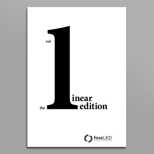 Minimal typographic cover