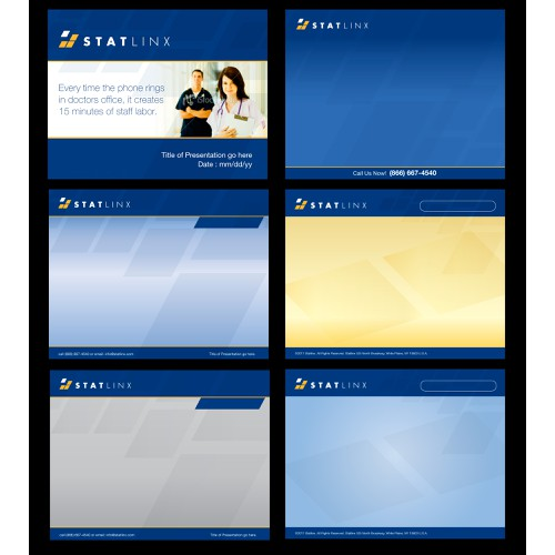 Powerpoint - 1 title slide and 2 template slides