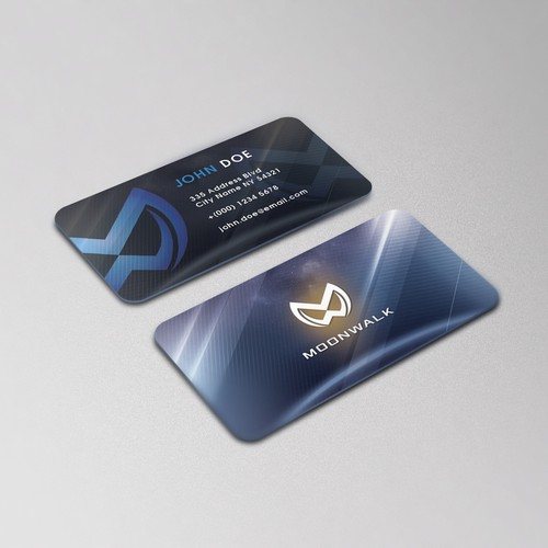 Business Card Design for Moonwalk