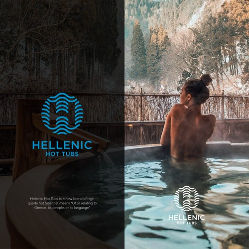 Hellenic Hot Tubs Logo Entries