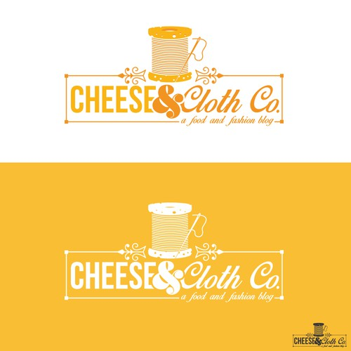 Create a dynamic logo for a food and fashion blog - Cheese & Cloth Co.
