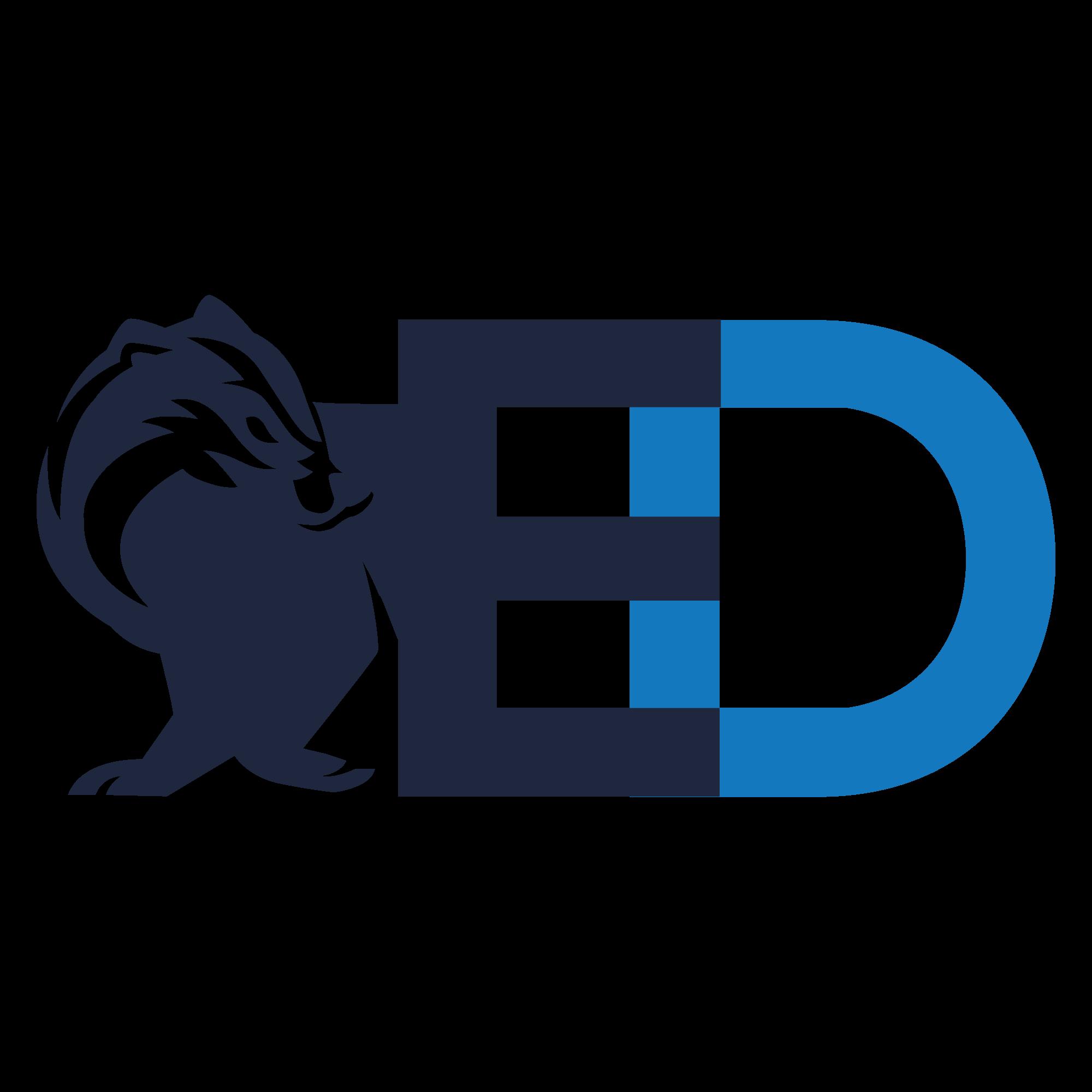 Design a classy logo including a badger.