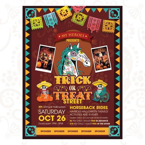 Dia de Los Muertos with horse skull for all abilities event