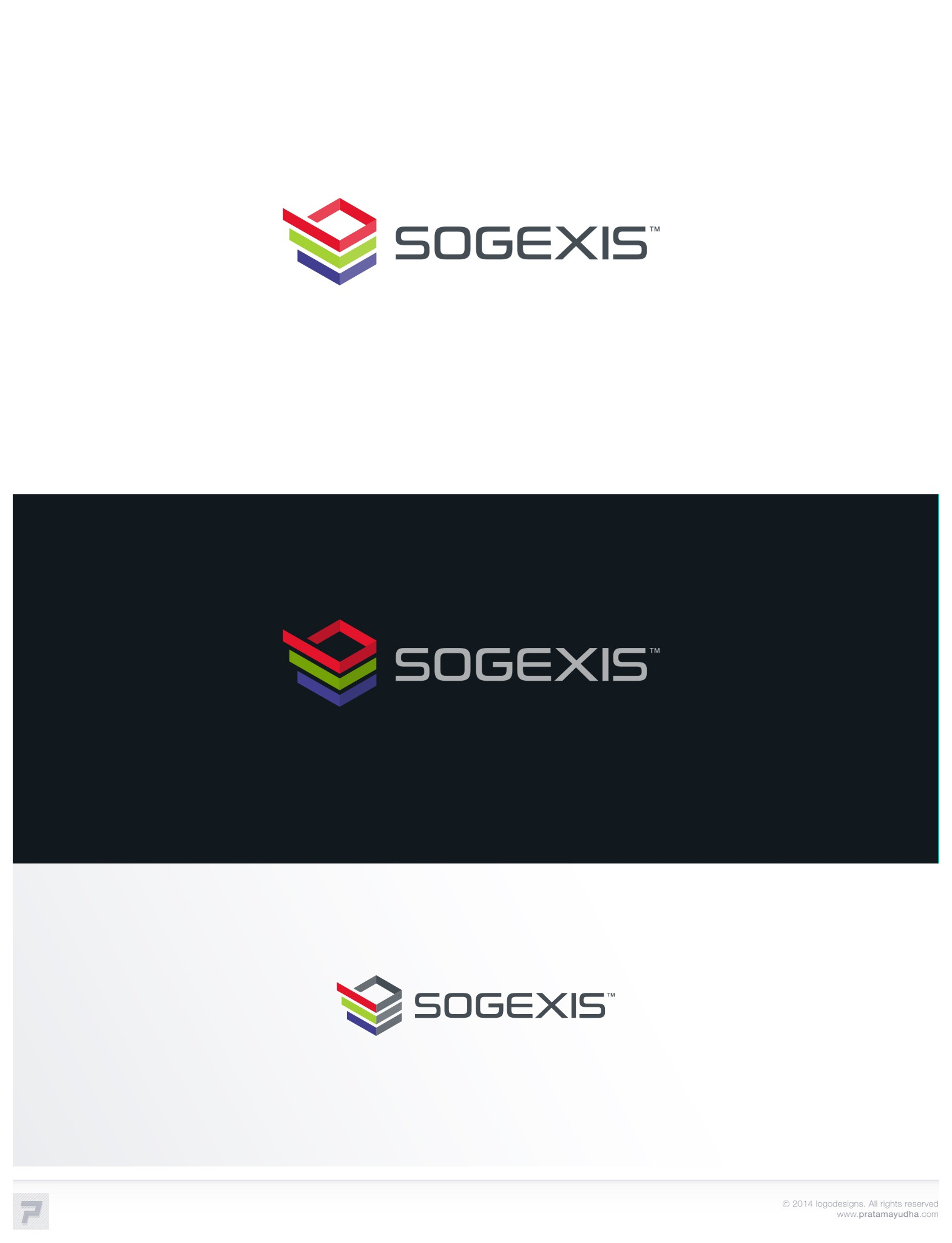 Evolution of a logo for a company specializing in IT