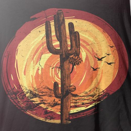 Boho cactus T-shirt