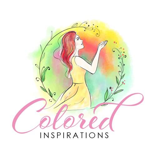 Feminine logo for Colored Inspirations