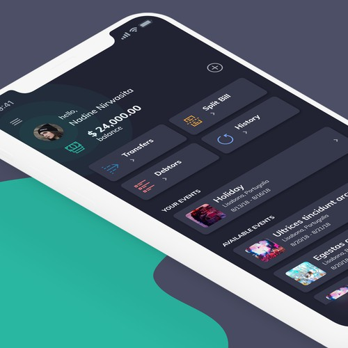 Concept Design for Transfer app