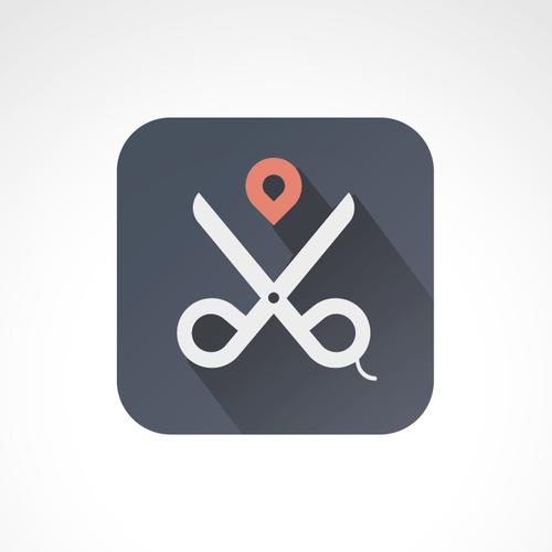 logo concept for hairdressing app