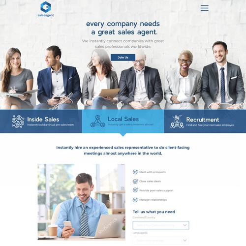 Website Design for Salesagent