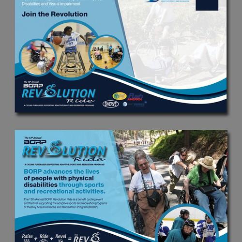 Create the overall design theme for the 13th Annual BORP Revolution Ride and Festival