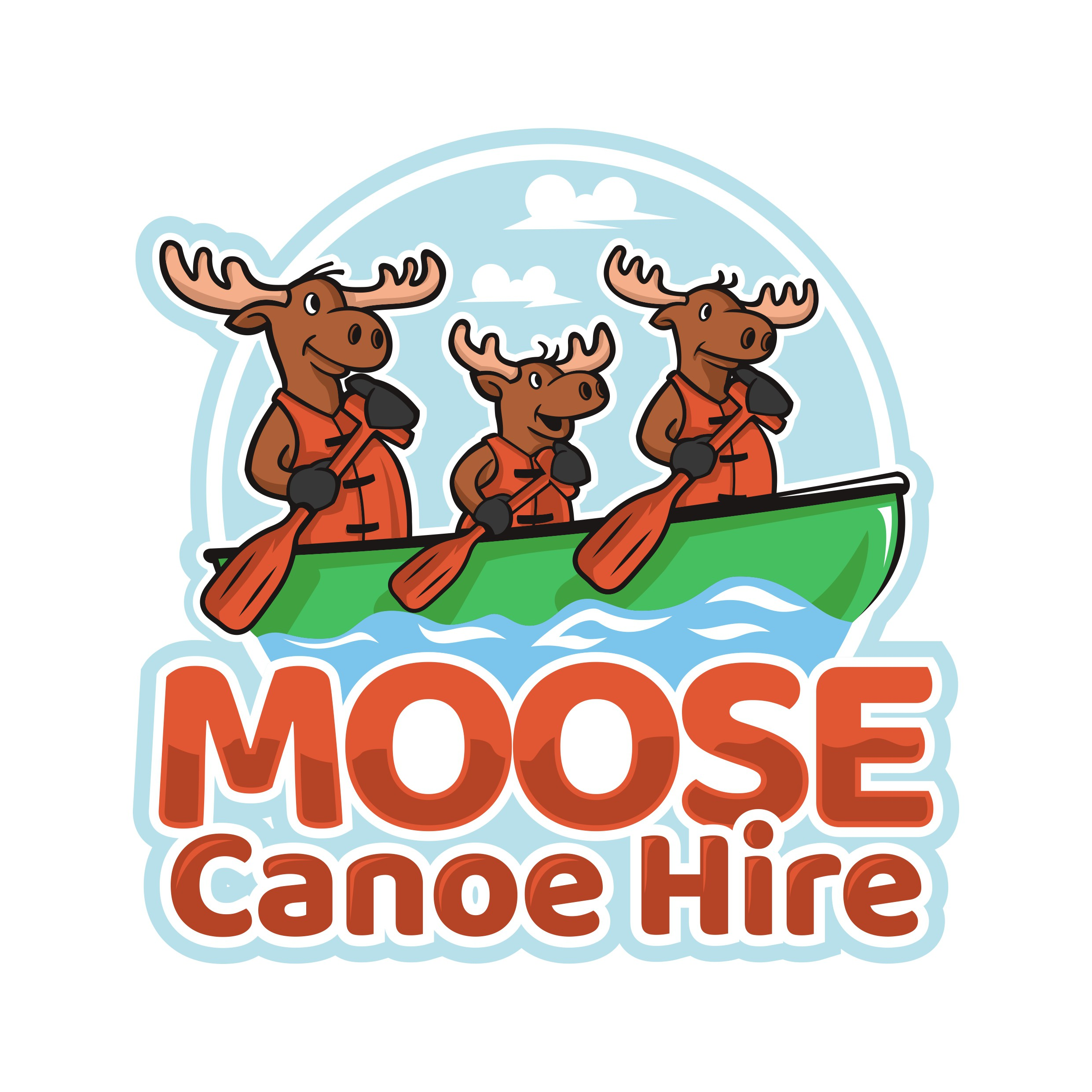 Design a fun and informative logo for Moose Canoe Hire!