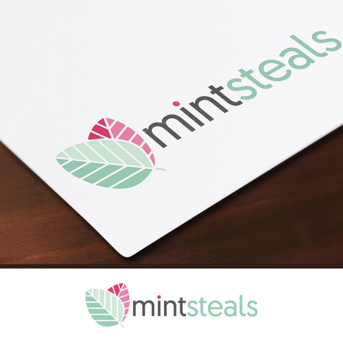 Logo for and upcoming website featuring fashion and decor deals.
