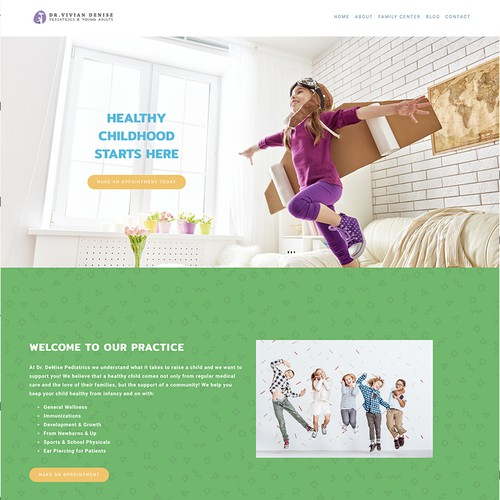 Website Design, Logo and Branding for Pediatric Doctor