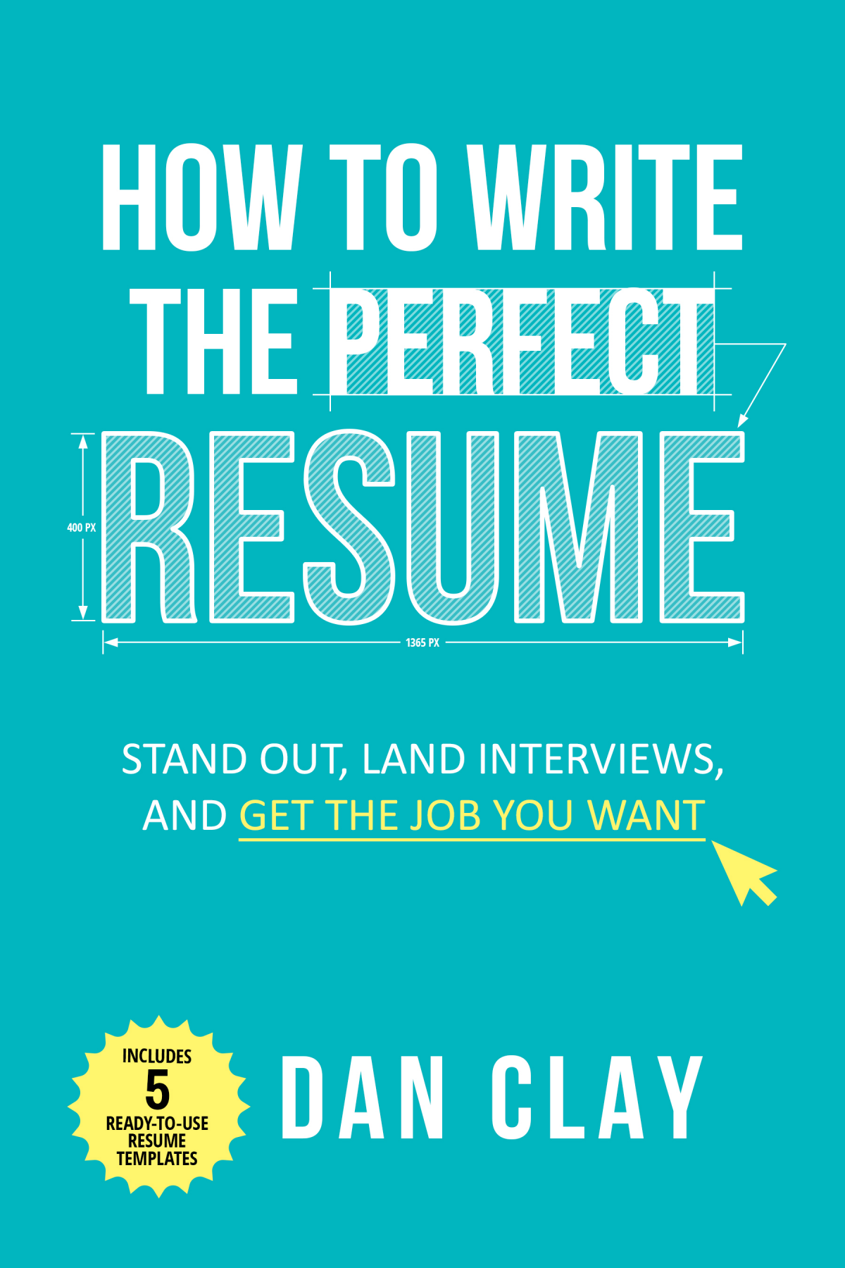 Resume writing ebook  - cover to cover design