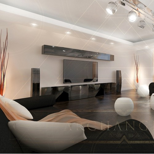 Living Room 3D Space Design by Alexander Philip