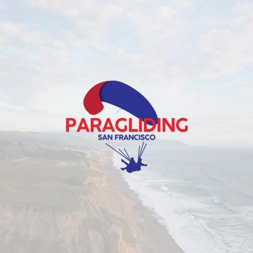logo concept paragliding