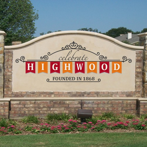 Entrance Welcome Sign, monument style