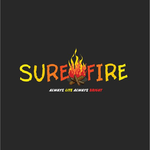 Create a logo for quick-starting firewood company, Sure Fire.