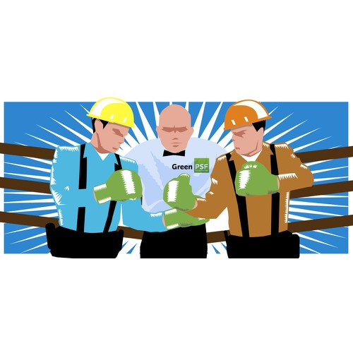 Create a cool illustration for an energy efficiency startup