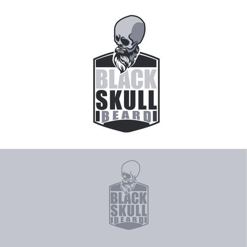 Black skull Beard