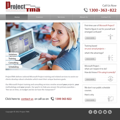 ProjectTMA needs a new website design