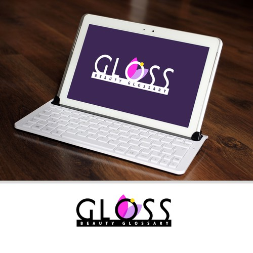 Logo concept for Gloss Beauty Glossary